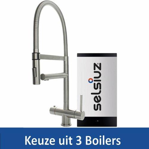 Kokendwaterkraan XL RVS Inclusief Boiler (Keuze uit 3 boilers)