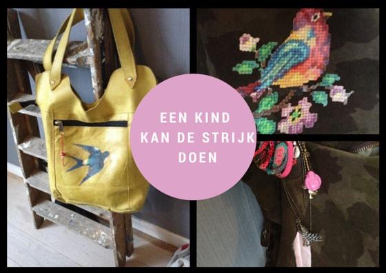 Customize je leren tas heel makkelijk met strijkapplicaties