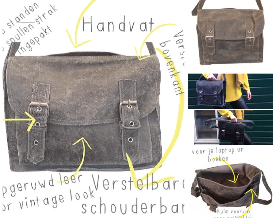 goedkope leren schooltassen in de webshop