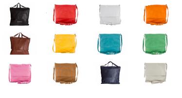 Kleuren leren messengerbags voor mannen en vrouwen