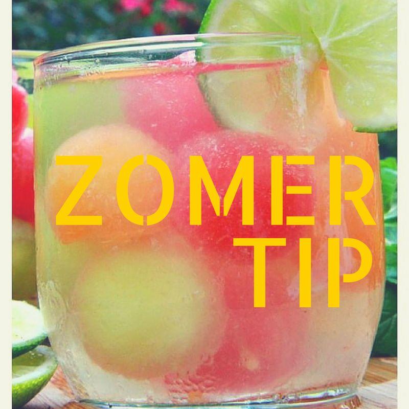 Zomertip van Joof; makkelijk te maken fruitwater.