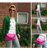 JOOF Leren Citybag / Avondtasje taupe