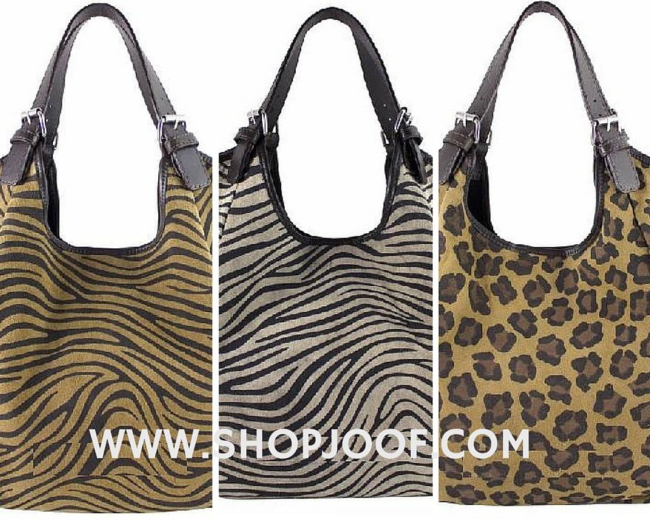 Suede tassen met dierenprints, hot or not?