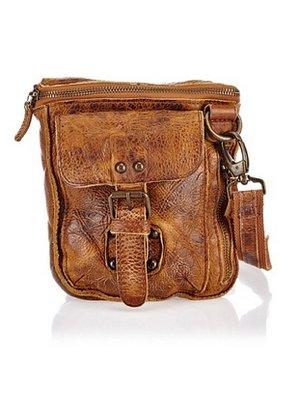JOOF Vintage look kleine leren schoudertas bruin 2