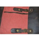 JOOF Rugzak canvas met leer perzik rood, model 2