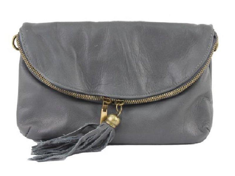 JOOF Leren Citybag / Avondtasje grijs