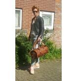 JOOF Leren (geitenleren) weekendtas vintage look 3