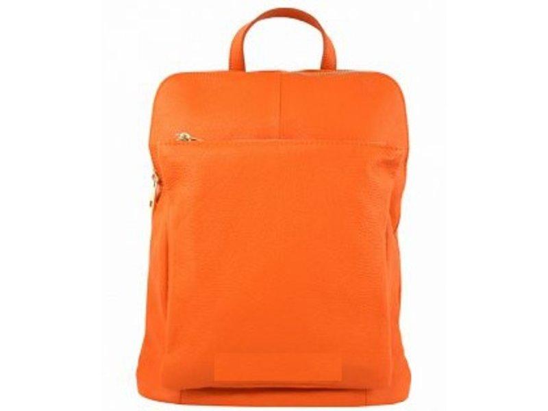 JOOF Leren rugzak uit Italie oranje