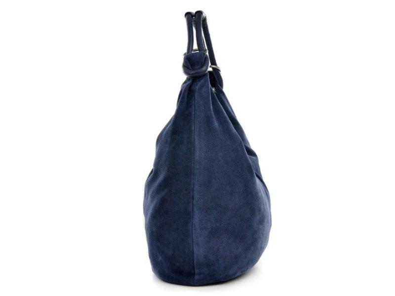 JOOF Basic suede schoudertas, blauw