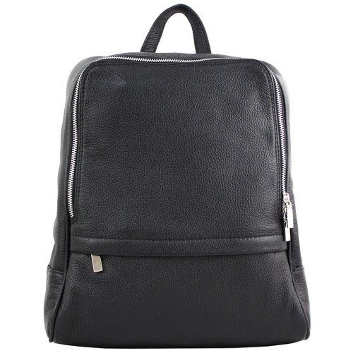 JOOF Leren rugzak, ook voor een kleine laptop, zwart