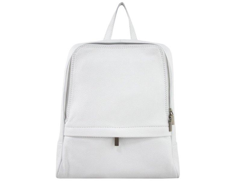 JOOF Leren rugzak, ook voor een kleine laptop, wit
