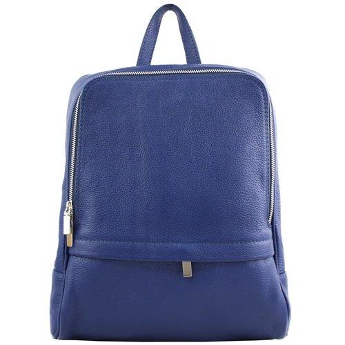 JOOF Leren rugzak, ook voor een kleine laptop, blauw