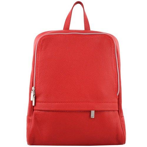 JOOF Leren rugzak, ook voor een kleine laptop, rood