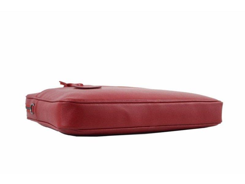 JOOF Extra sterke (Saffiano leren) laptoptas, rood