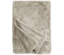 Faux Fur Throw Seal Pearl