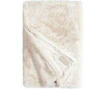 Faux Fur Throw Seal Ivory