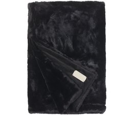 Faux Fur Throw Seal Black