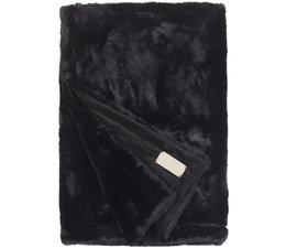 Faux Fur Throw Seal Black