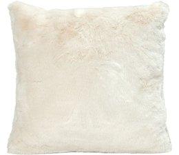 Faux Fur Cushion Seal Ivory