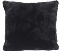 Faux Fur Cushion Seal Black