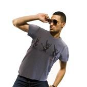 Heren T-shirt 'Peace, Love, Rock'
