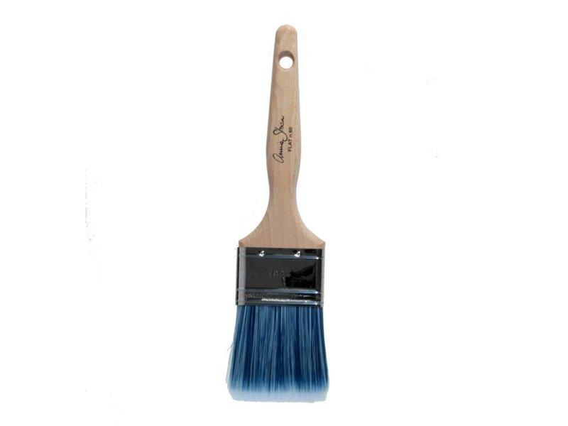 Annie Sloan platte kwast blauw (groot)