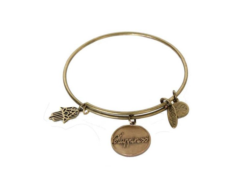 Be Bangled armband met gelukshanger HAPPINESS