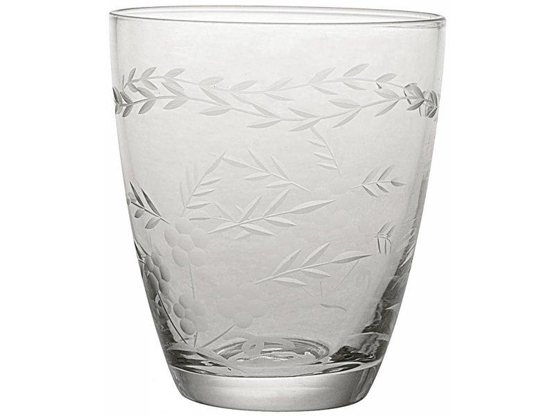 Klassiek waterglas, gebloemd