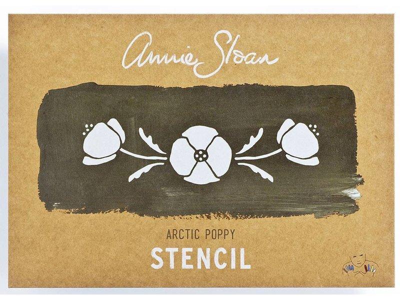 Annie Sloan sjabloon Arctic Poppy A4