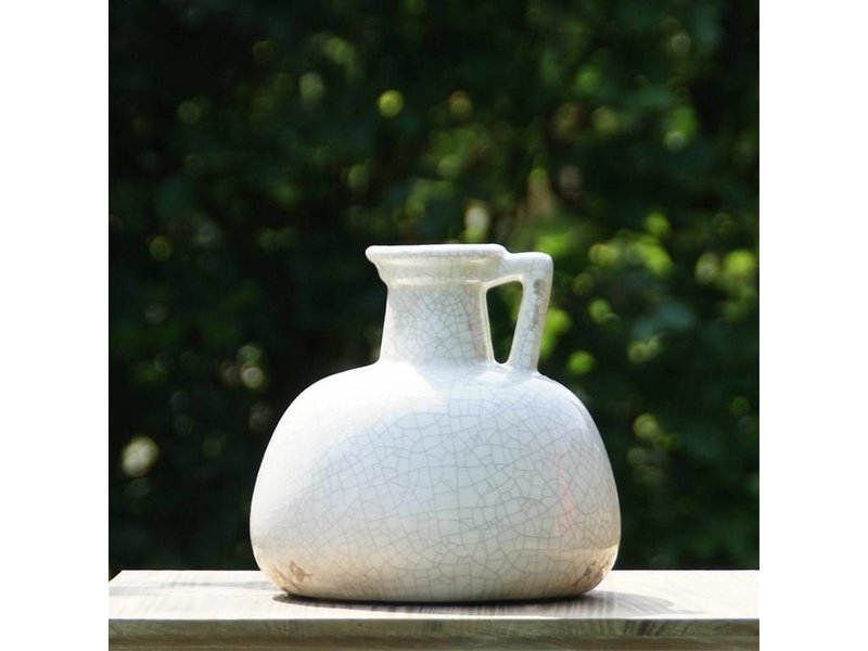 Brynxz Sob Jug domestic crackle, white