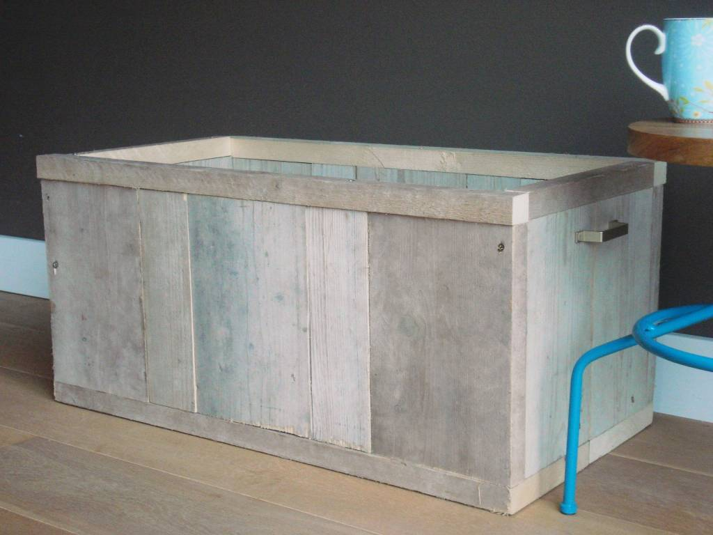 39 horsens 39 opbergkist van steigerhout pure wood design. Black Bedroom Furniture Sets. Home Design Ideas
