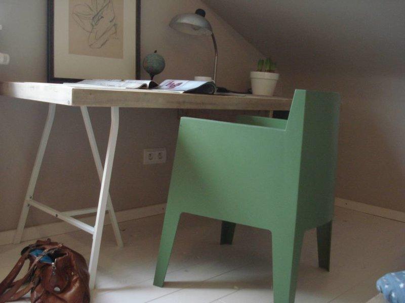 """PURE wood design """"Tonstad"""" bureautafel van steigerhout met schragen"""