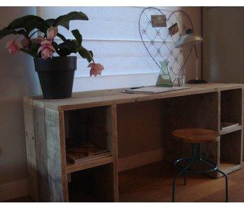 PURE bureau d'échafaudage en bois avec boîtes