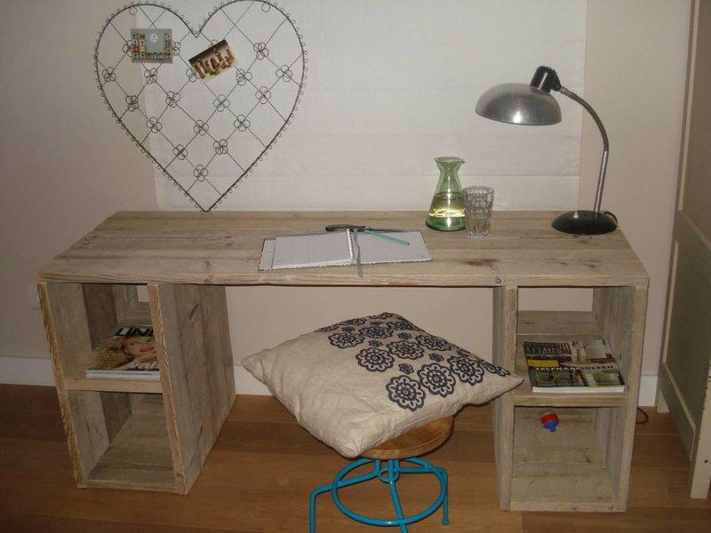 "PURE wood design ""Seiland"" Bureau rustique en pin recyclé"