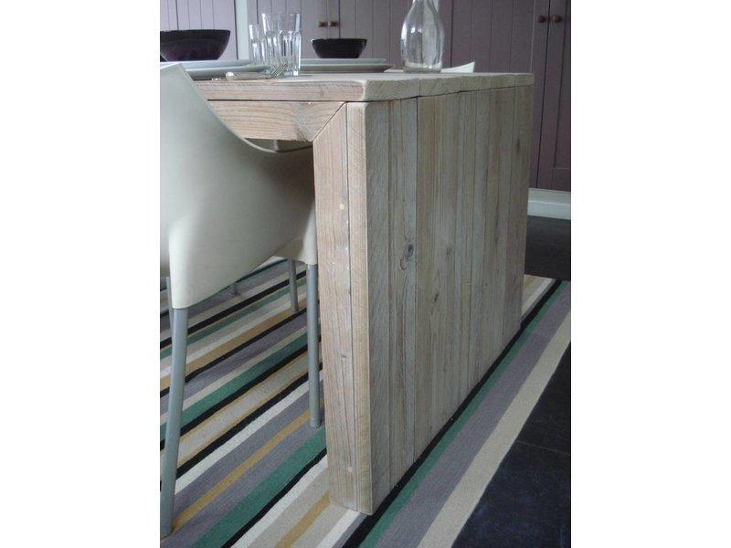 Table bois d'échafaudage avec côtés fermés