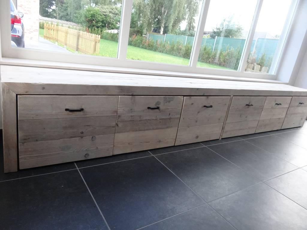 stockage bois d 39 chafaudage pure wood design. Black Bedroom Furniture Sets. Home Design Ideas