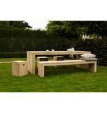 'Lund outdoor' tuintafel steigerhout dichte zijkanten
