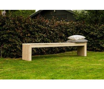 PURE wood design 'Hofland Garden' bank steigerhout met dichte zijkanten