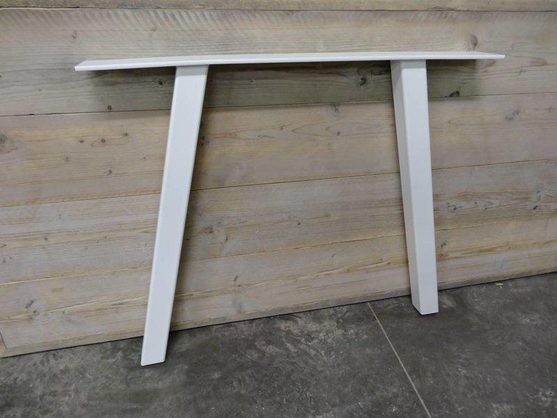 Table industrielle échafaudage bois avec jambes inclinées