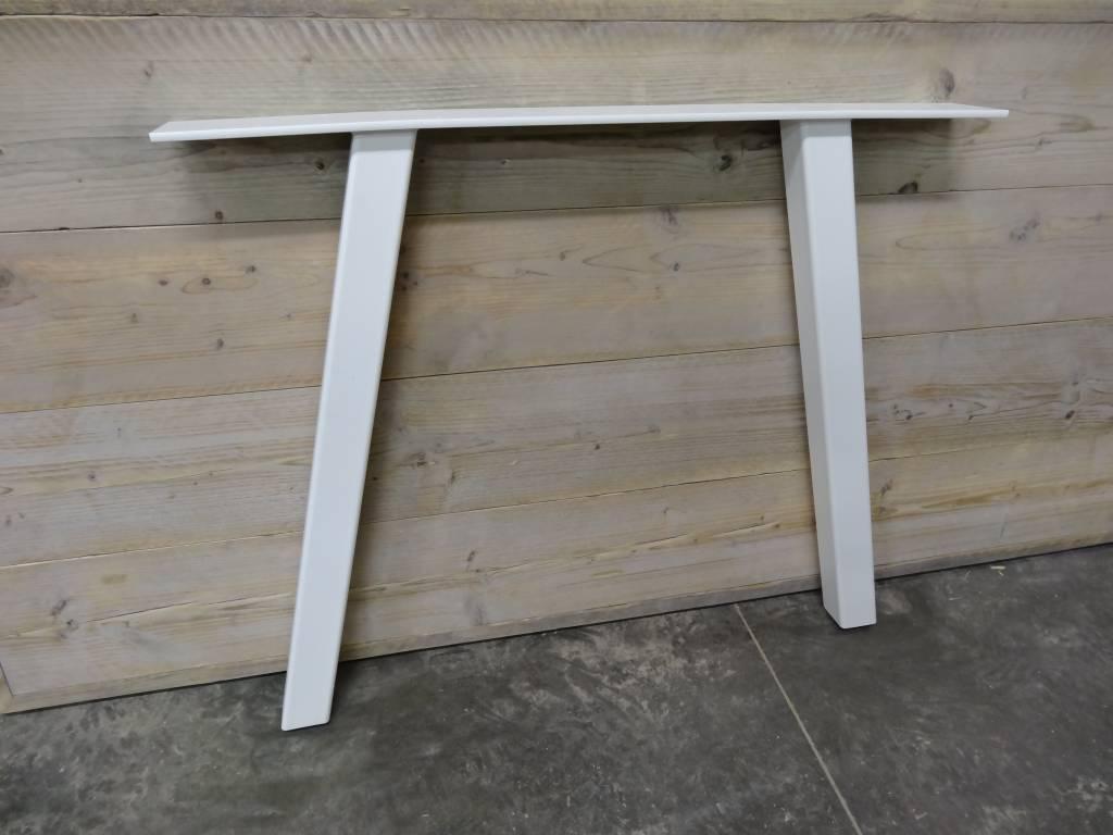 Industriele tafel steigerhout met schuine poot - PURE Wood Design