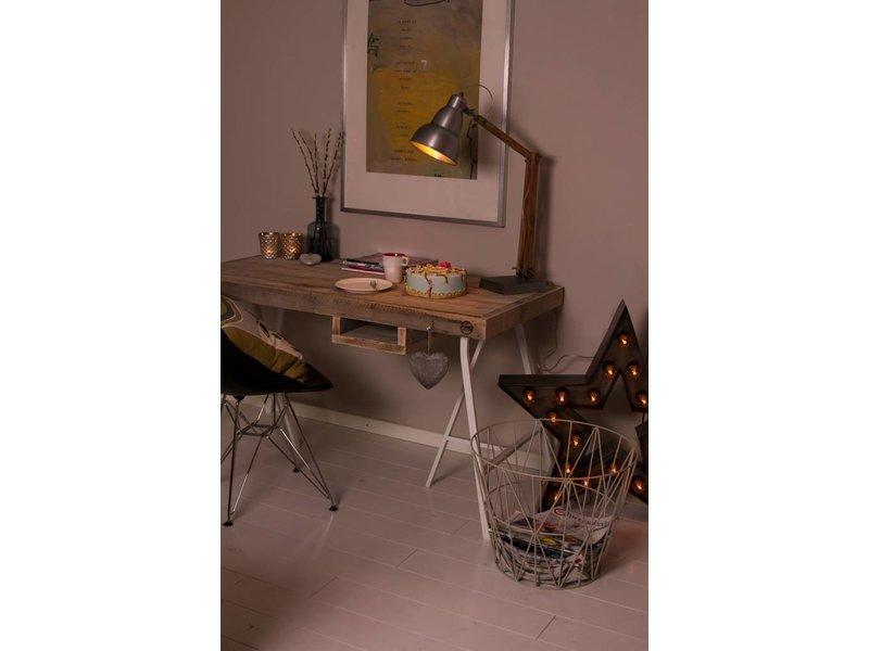 Table de bureau du bois d'échafaudage (avec tréteaux)