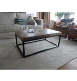 Industrielle table basse bois/acier