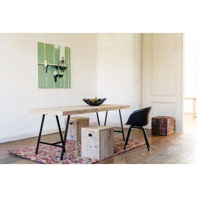 Pure wood design tisch aus bauholz mit tr gern pure wood for Tisch design wood