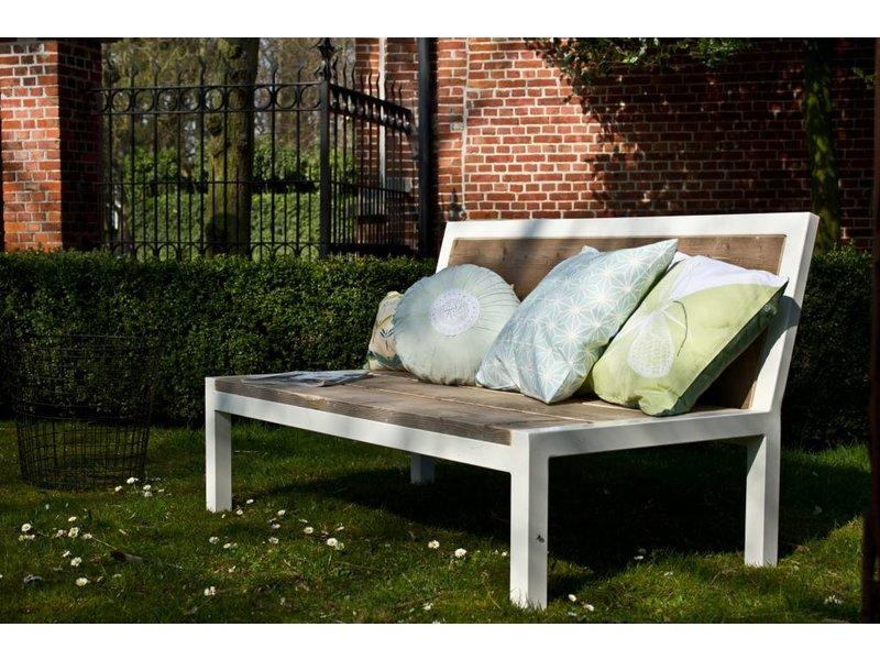 PURE wood design 'Linde Garden' Relaxbank steigerhout met staal