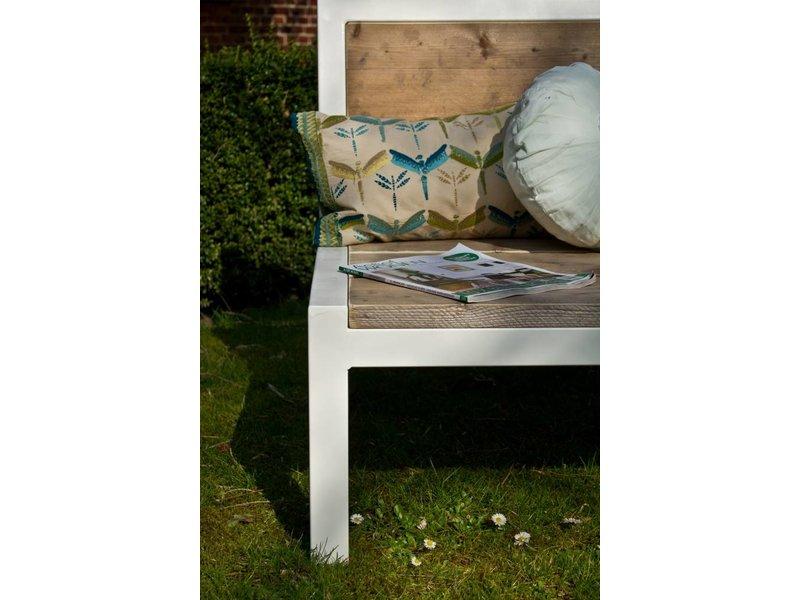 PURE wood design 'Linde' Outdoor relaxbank steigerhout met staal