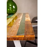 """Harstad"" Table en bois recyclé multicolore"