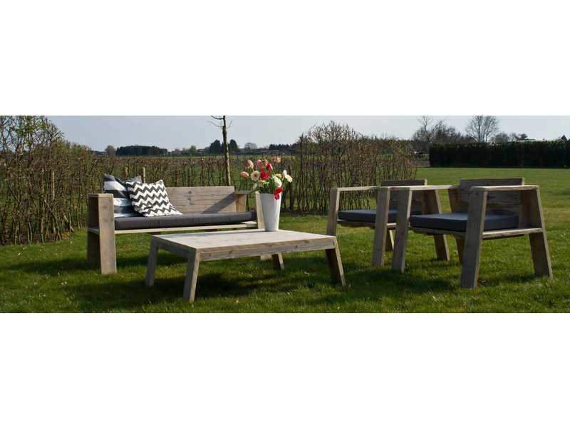 PURE wood design 'Hausvik Garden' Tuinset steigerhout
