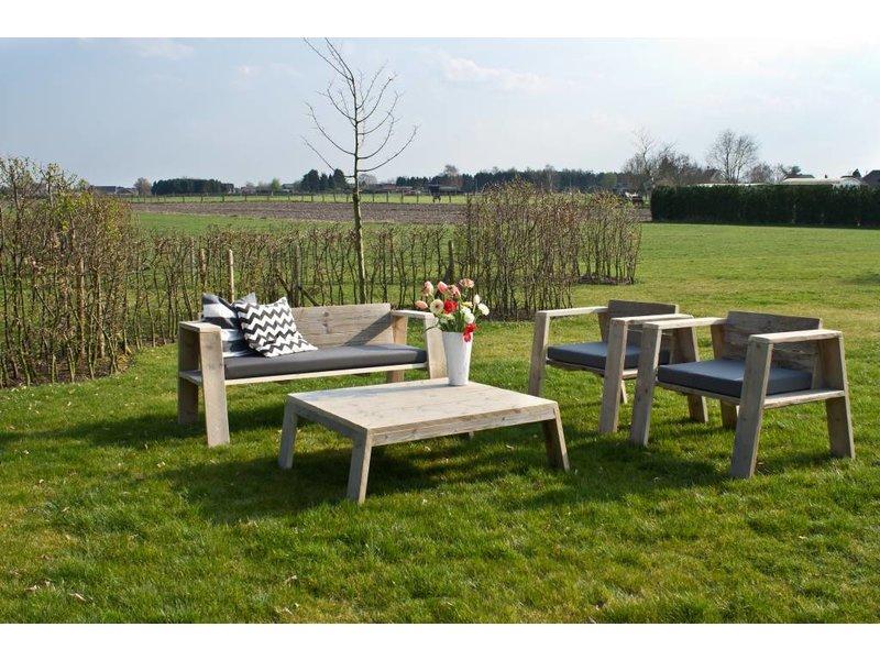 'Hausvik Garden' Tuinset steigerhout