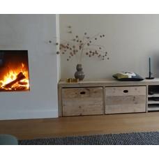 'Bjordal' Opbergbank steigerhout