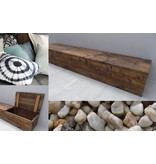 PURE wood design 'Toftlund' Opbergbank steigerhout met klepdeksel